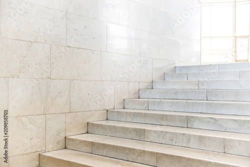Fotobehang Trappen Marble staircase with stairs in abstract luxury architecture