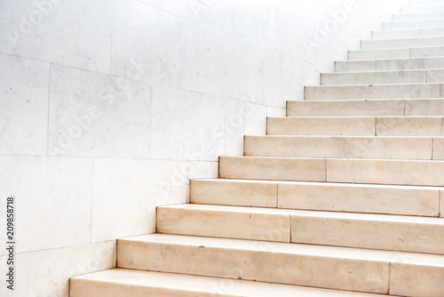 Aluminium Prints Stairs Marble staircase with stairs in abstract luxury architecture