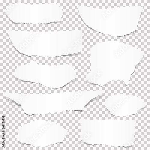 Valokuva collection of white paper scraps