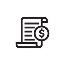Invoice Bill Document Vector L...
