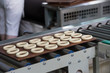 Industrial line for the production of biscuits and bagels. Conveyor belt for the production of culinary products