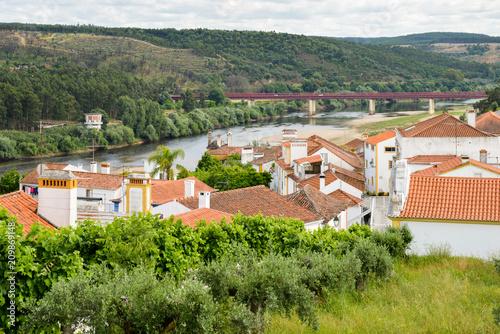 Valokuvatapetti Landscape of Constancia. Santarem, Ribatejo, Portugal