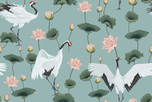 Seamless Pattern With Japanese...