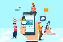 Social Media Concept In Vector