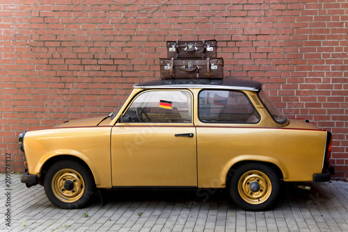 DDR, Auto, Oldtimer Canvas Print