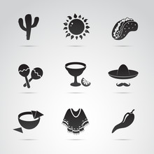 Mexican Icon Set. Symbols Of M...
