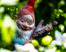 Smurf Or Gnome In A Garden With A Beautiful Pose.