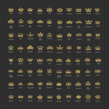 King And Queen Crowns Symbols