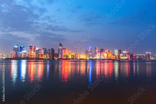 Photo Stands hangzhou city skyline