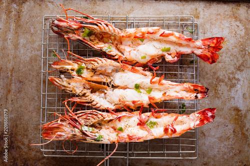 rustic grilled jumbo prawn