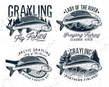 Grayling Fly Fishing Logo. The...