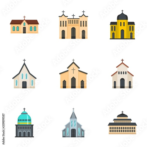 Church icons set Canvas-taulu