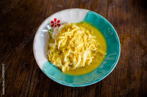 Yellow fish curry Khanom Jeen