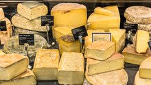 Different Cheeses On Display I...