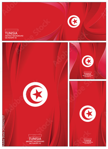 Abstract Tunisia Flag Background Canvas Print