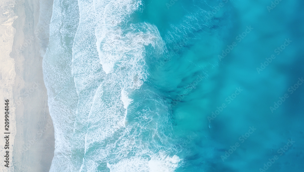 Fototapety, obrazy: Waves on the beach as a background. Beautiful natural background at the summer time