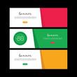 Banner design set. Sale voucher. Discount card. Facebook cover. Facebook banner. Abstract brochure design