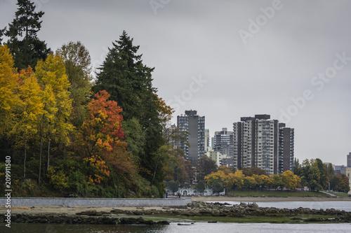 Plagát  Seawall view toward Vancouver city