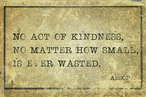 Fotografía  act of kindness Aesop