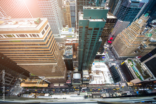 New York City 5th Ave Vertical view.