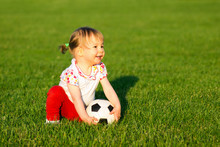 Baby Girl With Soccer Ball