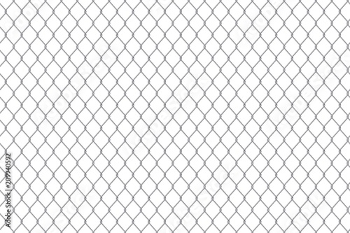Fotografía Creative vector illustration of chain link fence wire mesh steel metal isolated on transparent background