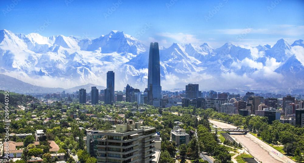 Fototapety, obrazy: Santiago Chile cityscape
