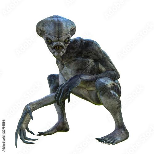 Photo hammerhead alien exploring arround