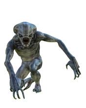 Hammerhead Alien Exploring Arr...