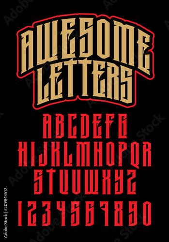 Canvastavla Heavy metal alphabet