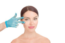 Woman Getting Ready For Eyelid...