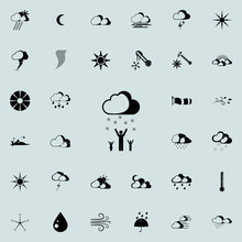 Family Under Snow Sign Icon. Detailed Set Of Weather  Icons. Premium Quality Graphic Design Sign. One Of The Collection Icons For Websites, Web Design, Mobile App