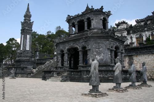 Foto op Aluminium Oude gebouw Thien Dinh Palace, Vietnam