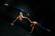 Male Acrobatic Duo Performs A ...