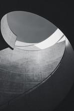 Architecture Details Cement Stair Curve Design