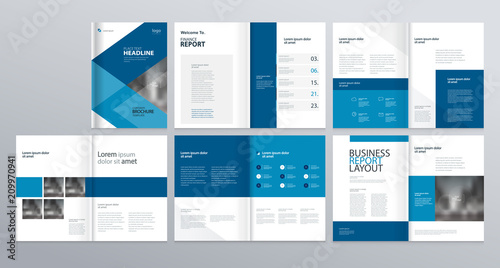 Fototapeta  layout template  for company profile ,annual report , brochures, flyers, leaflet, magazine,book with cover page design . obraz