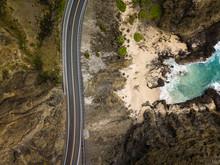 Halona Cove Landscape Highway Oahu, Hawaii
