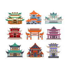 Traditional Pagoda Buildings S...
