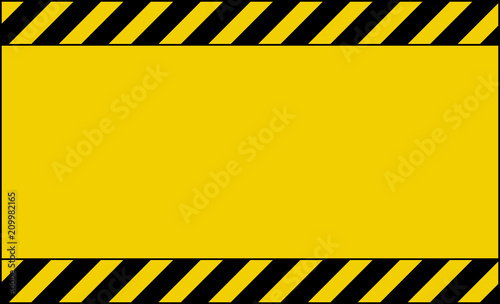 Fotografia  caution tape background wallpaper design with empty place