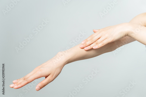 Skin care of hand concept. Fototapete