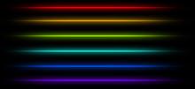 Neon Tube Light Pack Isolated On Black