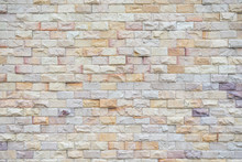 Yellow Stone Block Wall The Polygon Is Horizontal. For Background