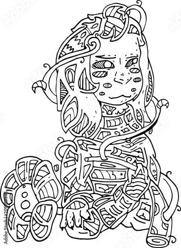 Abstract Coloring Pages For Adults Zentangle Doodle | 500x365