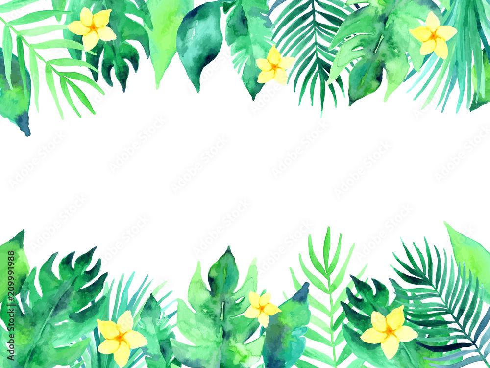 Fototapeta Summer tropical background illustration