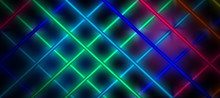 Neon Background, Cage Of Light Rays