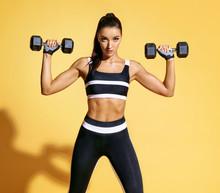 Beautiful Woman Doing Exercise...