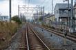 Railway track, Kyoto, Japan