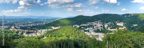 Fotografie, Obraz  Aerial view of Karlovy Vary, Czech Republic