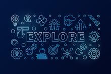 Explore Vector Blue Modern Col...