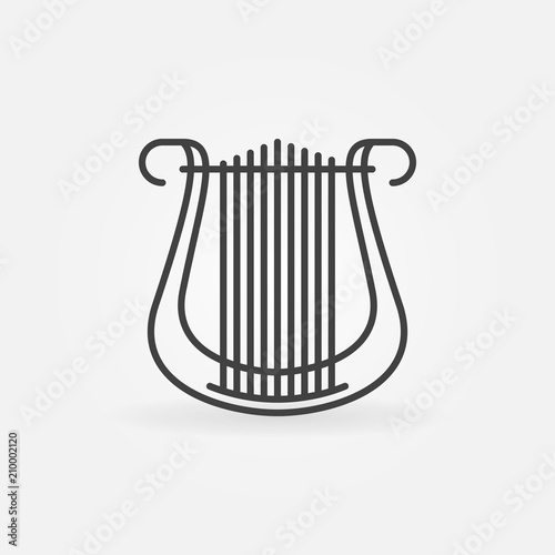 Lyre vector concept icon in thin line style Canvas Print